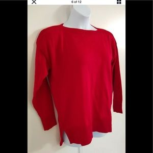 Maison Jules red chenille Sweater size L
